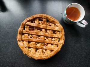 Vegan Apple Pie With Caramel Drizzle Recipe